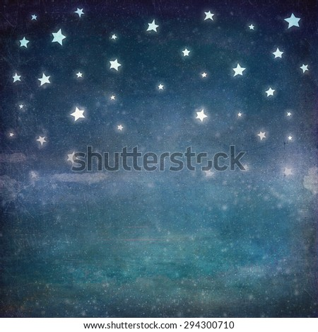Stock Photo Stars at night grunge sky ,background