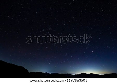 Stars at Shibu Pass, Shiga Kogen, Nagano Prefecture, Japan #1197863503