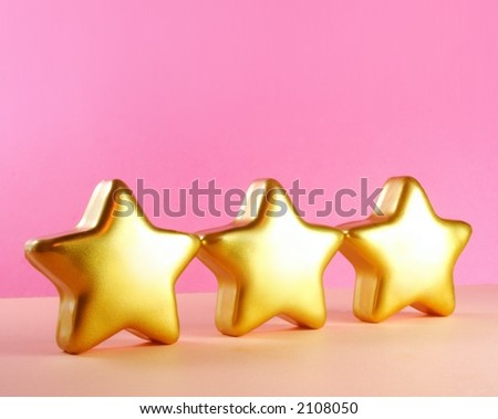 Stars - gold stars on pink background, abstract, xmas