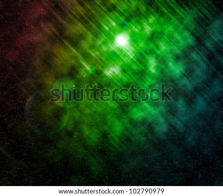 Stars Green Universe Background