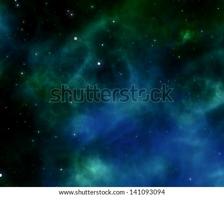 stars in space and nebula