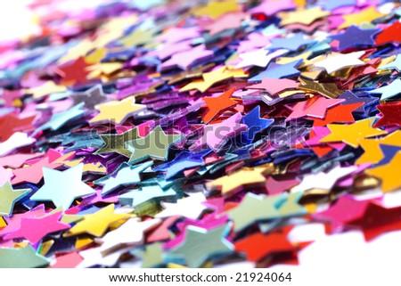Stars in the form of confetti