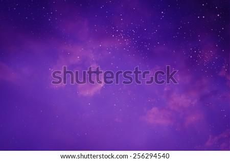 Stars in the night sky #256294540