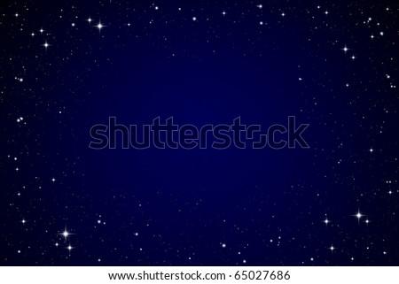 Stars in the night sky - stock photo