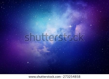 Stock Photo Stars in the night sky,nebula and galaxy