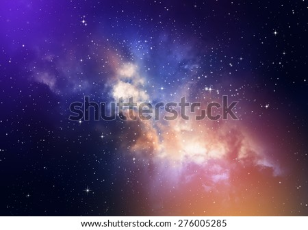 Stars in the night sky,nebula and galaxy #276005285