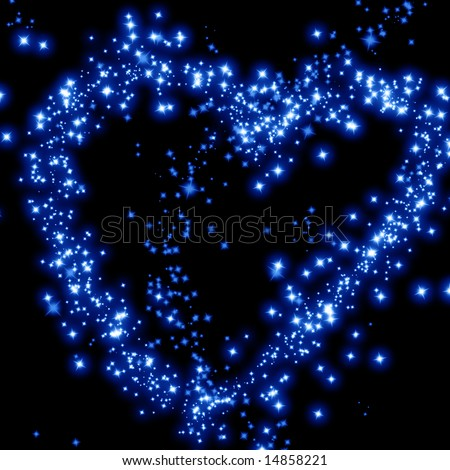 stars in the shape of a heart in the night sky