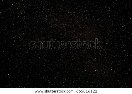 Stars in the sky.Photo with endurance. Real photo #665816122
