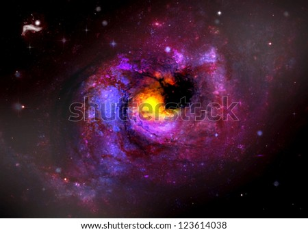 Stars of a planet and galaxy in a free space