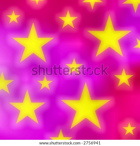 Stars on a pink background