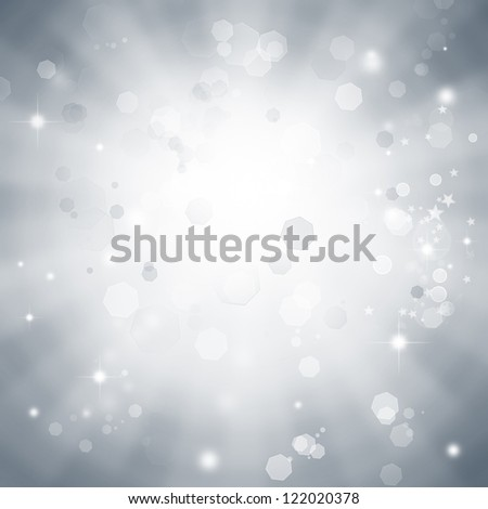 Stars on abstract grey and white background