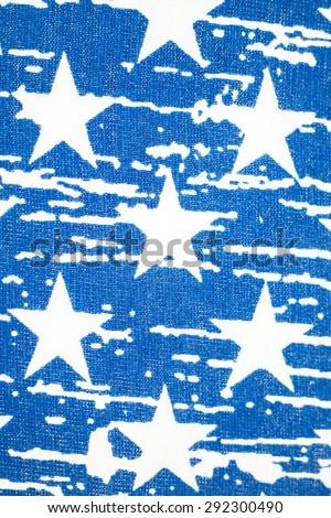 Stars on American flag vintage background.