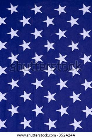 Stars on an American flag.