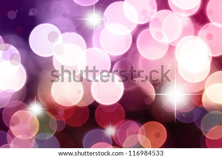 Stars on purple and pink tone background