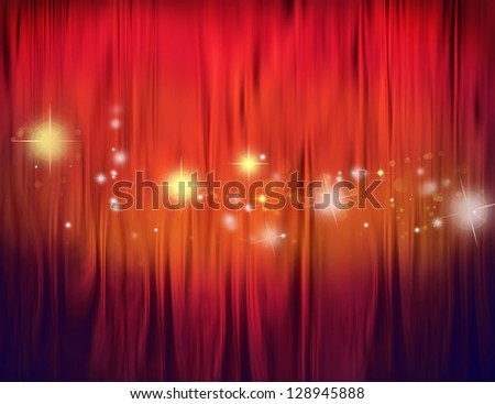 Stars on red and orange tone background