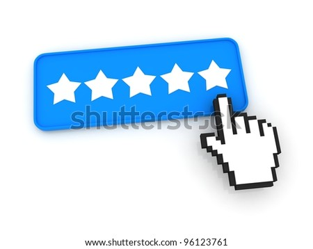 Stars Ratings Button with Cursor
