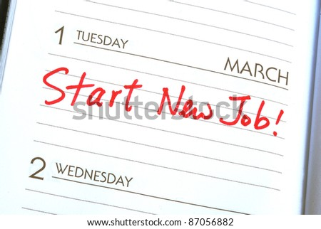 Start a new job concepts of new employment