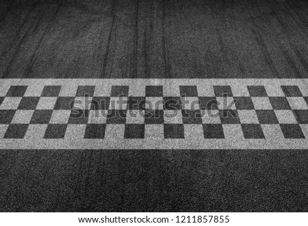 Start and finish line racing background top view #1211857855