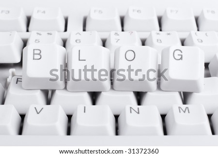 Start blog, stand out of the crowd! Keyboard concept, macro