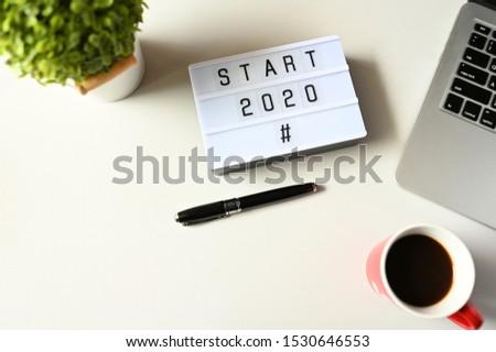 START 2020 Business Concept ,minimal style