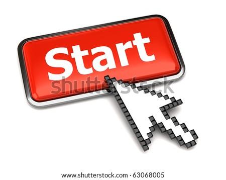 Start button and arrow cursor