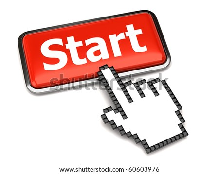 Start button and hand cursor