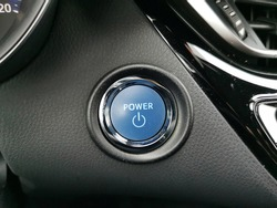 Start button in a hybrid car