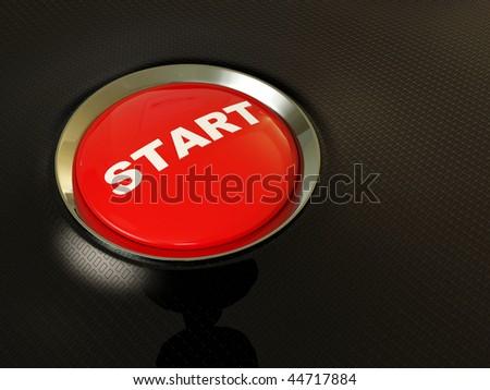 start button on black background
