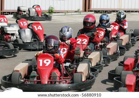 Start. Go-Kart racing for kids & children.
