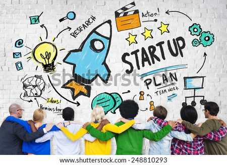 Start Up Business Launch Success People Friendship Concept #248810293