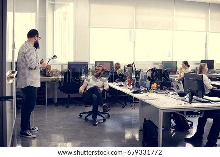 Start up Business Team Brainstorming on  Meeting Workshop #659331772