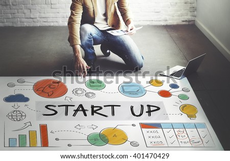 Start up Launch Business Ideas Growth Success Concept