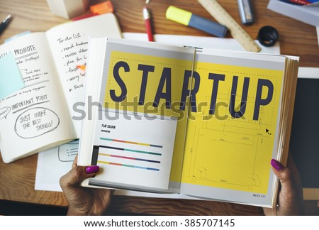 Start up Word Design Editorial Artwork Concept - Shutterstock ID 385707145