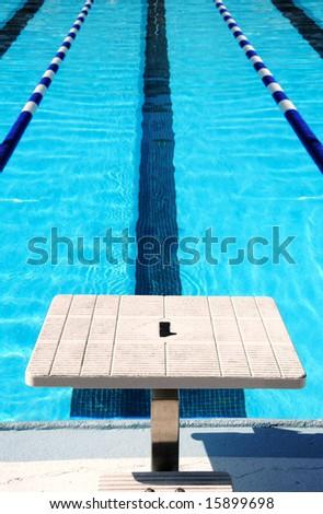 Starting Block At End Of Swim Lane Stock Photo 15899698 Shutterstock