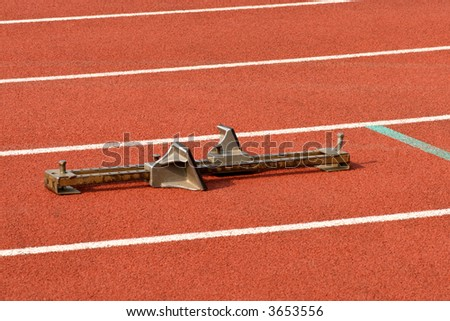 Starting Block for a racer at a track event