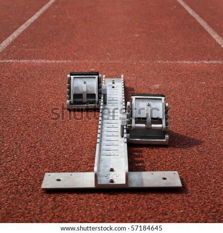 starting block on race track
