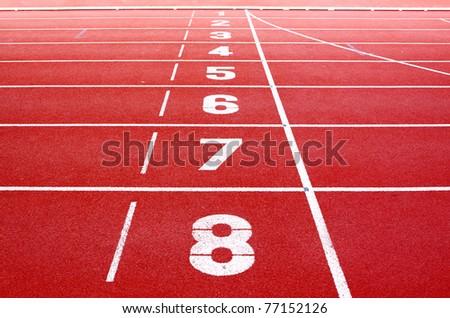 Starting lane of running track