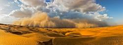 Starting Sand storm in desert