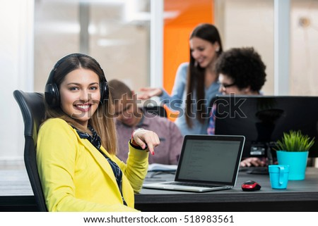 startup business people group working everyday job at modern office. Tech office, tech company, tech startup, tech team, #518983561