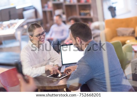 startup business people using laptop preparing for next meeting and discussing ideas in creative office - Shutterstock ID 752668201