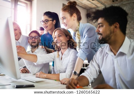 Startup Diversity Teamwork Business Brainstorming Meeting Concept #1260165622