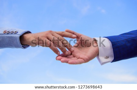 Startup project concept. Impulse for cooperation start of partnership. Hand gesture of partnership. Association or integration of company. Beginning of partnership and interaction in business. #1273698643
