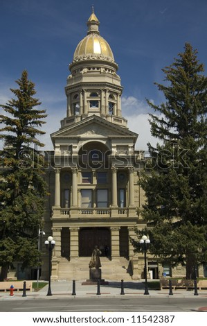 State Capitol Building - Cheyenne, WY - stock photo