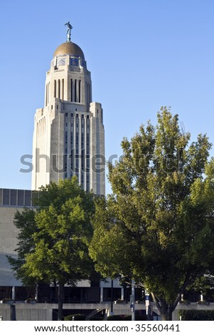 State Capitol of Nebraska in Lincoln.