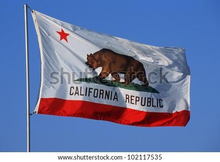 State Flag of California - stock photo