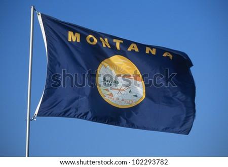State Flag of Montana - stock photo