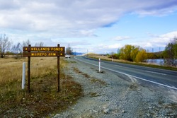 state highway 8 at Wairepo arm lake twizel New Zealand