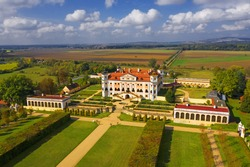 State Milotice Castle called pearl of South Moravia. Castle is a uniquely preserved complex of baroque buildings and garden architecture, Czech Republic