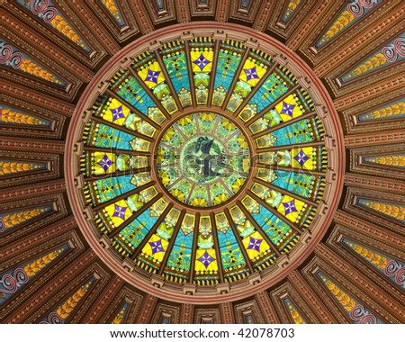 State of Illinois Capital Dome - stock photo