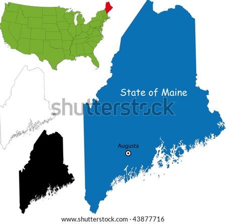State of Maine, USA - stock photo